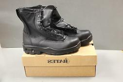 """Bates Women's Black 8"""" Safety Boots, Composite Toe, Size 9XW"""
