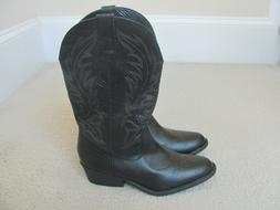 Rampage Women's Black Colored Decorative Design Western Boot