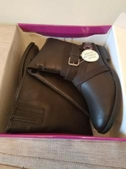 Women's Rampage Black Isadora Mid-Calf Zip Riding Boots, Siz