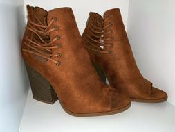 Charlotte Russe Women's Booties Boots Shoes Heels Burnt Oran