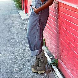 Women's Boots Mid Calf High Heel Two Toned Platform Stiletto