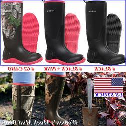 HISEA Women's BREATHABLE Rubber Boots Waterproof Snow & Rain