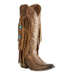 SALE! Ariat Women's Brisco Fringe Dusted Wheat X-Toe Boots 1