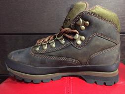 TIMBERLAND WOMEN'S BROWN LEATHER ANKLE EURO HIKER HIKING TRA