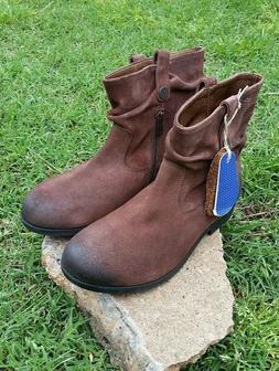 Women's Birkenstock Brown Suede Boots - Size 39