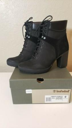 Women's Timberland Camdale Field Boots Black Nubuch Size 9 T