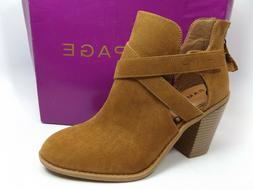 Rampage Women's Camel Micro Suede Vedette Ankle Boots Shoe S