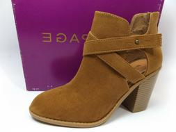 Rampage Women's Camel Micro Suede Vedette Ankle Boots MISMAT