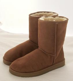 Women's UGG CLASSIC SHORT II Mid-Calf Boots CHESTNUT SZ 10 U