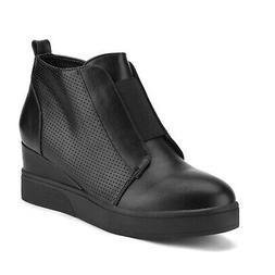 Dream Pairs Women's Comfortable Leather Platform Wedge Sneak