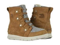 Sorel Women's Explorer Joan Suede Winter Boots - Felt Camel