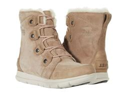 Sorel Women's Explorer Joan Suede Winter Boots - Ash Brown