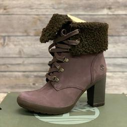 Timberland Women's Fold Down Dark Purple Heeled Boots