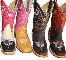 Women's  Handcraft Cowboy Boots Roper Western Rodeo Biker Ch