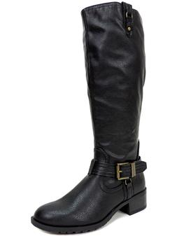Rampage Women's Idera Riding Boots Faux Leather Black Size 6