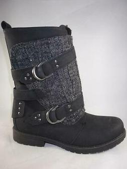 Rampage Justine Black Women's Boots Mid Calf Casual Dress Li