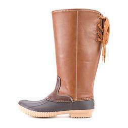Women's Avanti Knee-High Duck Boots - Faux Leather Wide Calf