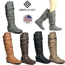 c9cf182ae9c80 DREAM PAIRS Women's Knee High Low Hidden Wedge Boots