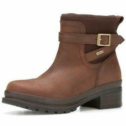 Muck Boot Women's Liberty Ankle Leather Rain Boot, Brown, Si