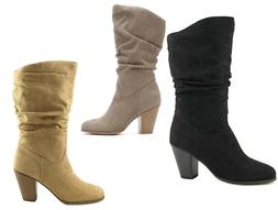 WOMEN'S MID-CALF BOOTS RAMPAGE VENICE CASUAL SHOES WR095B 8M