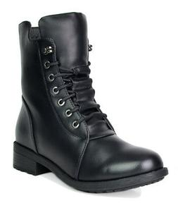 DREAM PAIRS PANTHER Womens Mid Calf Pull-On Military Ankle R
