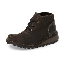 Fly London Women's Mili Suede Leather Wedge Boots Diesel Siz