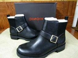 Vionic Women's Mystic Mara Black Leather Ankle Boots