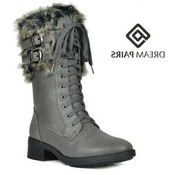 DREAM PAIRS Women's Winter Mid-Calf Warm Faux Fur Lined Snow