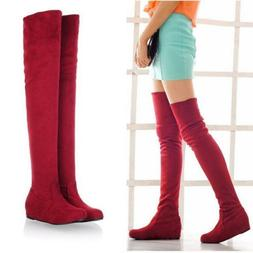 Women's Over Knee Warm Winter High Boot Flat Long Thigh Boot