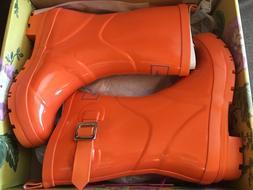 Joules Women's Rain Boots Orange - US Size 6 - **NEW IN BOX*