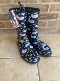 Sloggers 5000BK09 Size 9 Black Women/'s Sloggers Waterproof Rain Boots