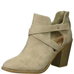 Rampage Women's Ram-Vedette Ankle Boot-Taupe/ 6 M Defect
