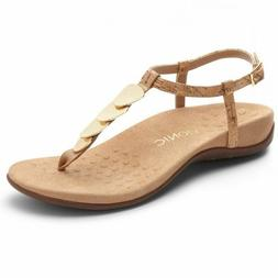 Women's Vionic Rest Miami T-Strap Thong Sandals Leather Cork