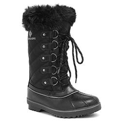 DREAM PAIRS Women's River_1 Black Mid Calf Winter Snow Boots