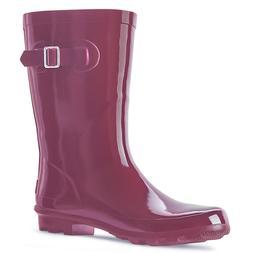 Landchief Women's Rubber Rain Boots Printed Waterproof Rain