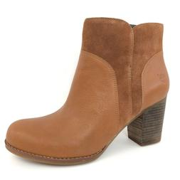 Timberland Women's Rudston Glazed Brown Leather Ankle Heeled