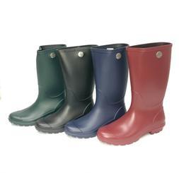 UGG Australia Women's Shelby Matte Black Rain Boots 1098249
