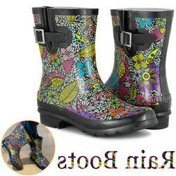 SheSole Women's Short Rain Boots for Garden Waterproof Rubbe