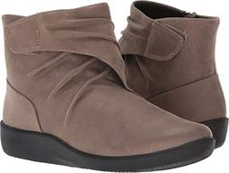 CLARKS Women's Sillian Tana Fashion Boot, Pewter Synthetic,
