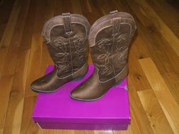 RAMPAGE WOMEN'S SIZE 9M WESTERN COWBOY BOOTS  EMBROIDERED NI