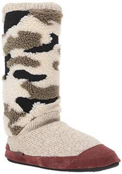 Acorn Women's Slouch Boot Slipper, Camooo, XL Standard Width