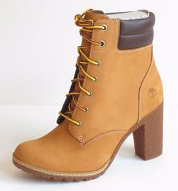 Timberland Women's Tillston 6 inch High Heel Wheat Leather B