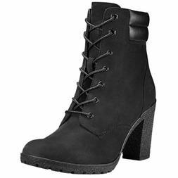 Timberland Women's Tillston High Heel Black Leather Boots St
