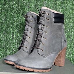 Timberland Women's Tillston High Heel Dark Green / Gray Boot