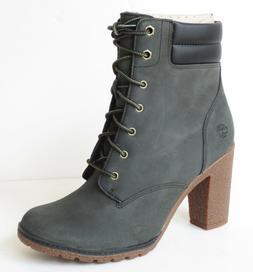 Timberland Women's Tillston High Heel Dark Green / Gray Leat