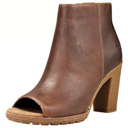 Timberland Women's Tillston High Heel Peep Toe Brown Leather