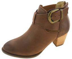 Vionic Women's Upright Rory Ankle Boot Dark Brown Style 322