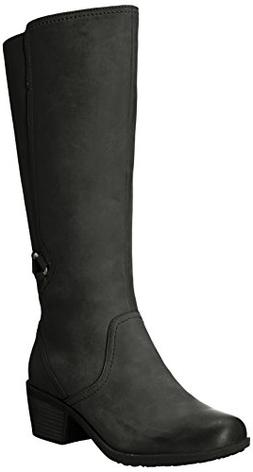 Teva Women's W Foxy Tall Waterproof Boot, Black, 9.5 M US