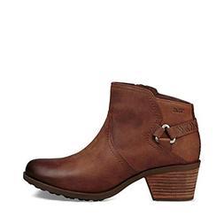 Teva Women's W Foxy Waterproof Boot, Brown, 8 M US