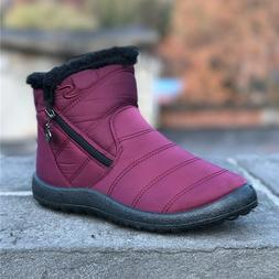 Women's Warm Snow Boots Winter Waterproof High Top Fur Thick